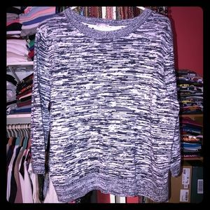 GAP Navy & White Marbelized Sweater
